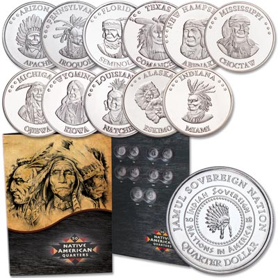 Image for Buy Eleven 2018 Native American Quarters and Folder from Littleton Coin Company