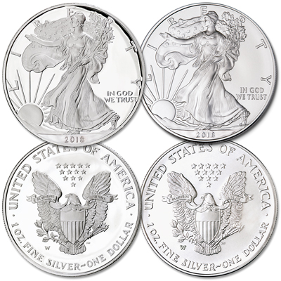 Image for 2018-W Burnished & Proof Silver American Eagles from Littleton Coin Company