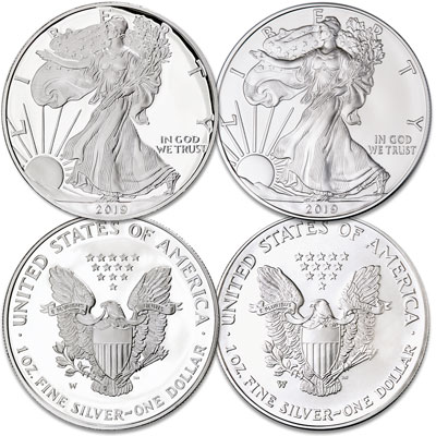 Image for 2019-W Burnished & Proof Silver American Eagles from Littleton Coin Company