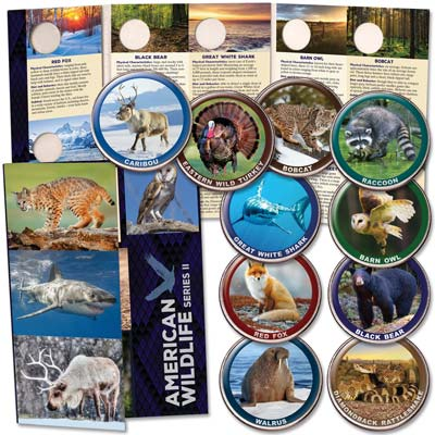 Image for American Wildlife Series II Custom Folder and Coins from Littleton Coin Company