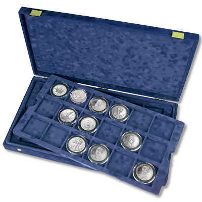 Image for Personal Presentation Case - Blue from Littleton Coin Company