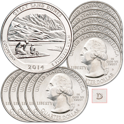 Image for 2014-D Ten Great Sand Dunes National Park Quarters from Littleton Coin Company