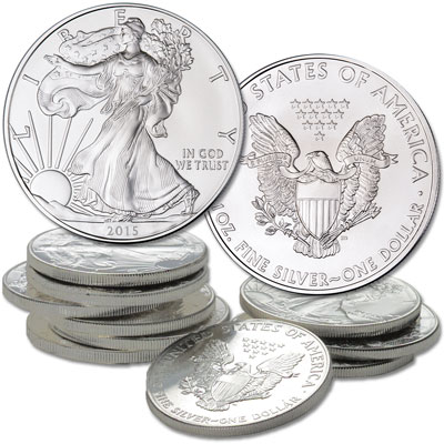Image for 2015 Ten $1 Silver American Eagles from Littleton Coin Company