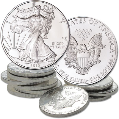 Image for 2018 Ten $1 Silver American Eagles from Littleton Coin Company