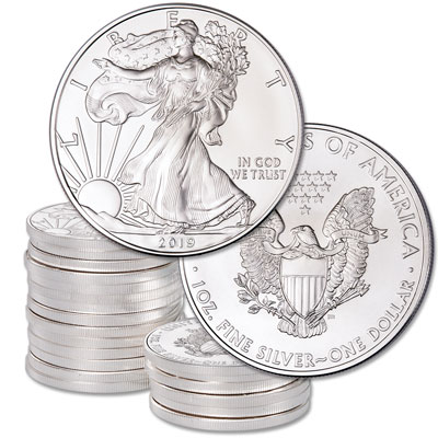 Image for 2019 Ten $1 Silver American Eagles from Littleton Coin Company
