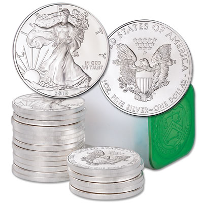 Image for 2019 Roll of Twenty $1 Silver American Eagles in U.S. Mint Tube from Littleton Coin Company