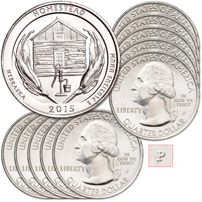 Image for 2015-P Ten Homestead National Monument of America Quarters from Littleton Coin Company