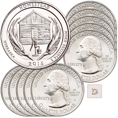 Image for 2015-D Ten Homestead National Monument of America Quarters from Littleton Coin Company