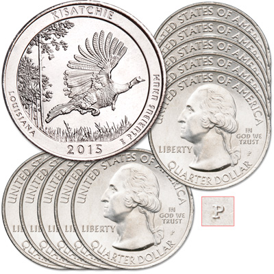 Image for 2015-P Ten Kisatchie National Forest Quarters from Littleton Coin Company