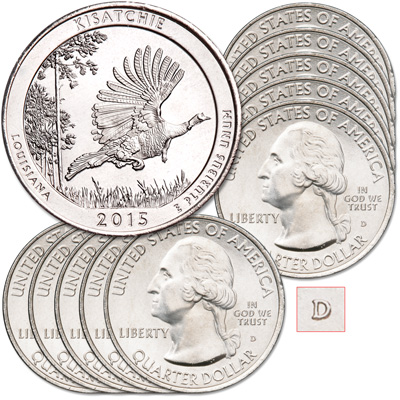 Image for 2015-D Ten Kisatchie National Forest Quarters from Littleton Coin Company