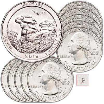 Image for 2016-P Ten Shawnee National Forest Quarters from Littleton Coin Company