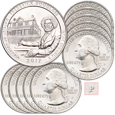 Image for 2017-P Ten Frederick Douglass National Historic Site Quarters from Littleton Coin Company
