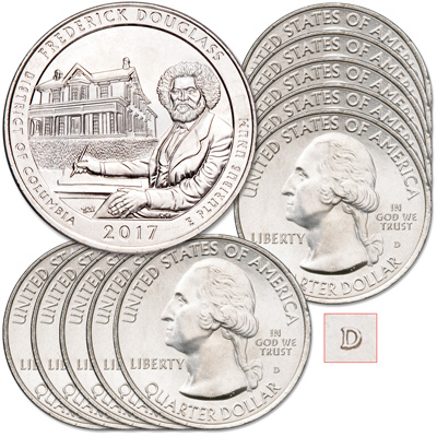 Image for 2017-D Ten Frederick Douglass National Historic Site Quarters from Littleton Coin Company