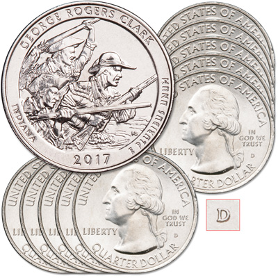 Image for 2017-D Ten George Rogers Clark National Historical Park Quarters from Littleton Coin Company