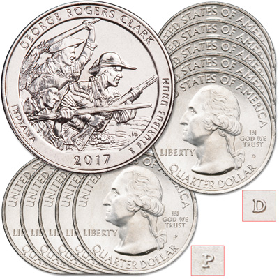 Image for 2017 5P & 5D George Rogers Clark National Historical Park Quarter Set from Littleton Coin Company