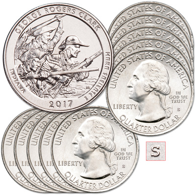 Image for 2017-S Ten Unc. George Rogers Clark National Historical Park Quarters from Littleton Coin Company