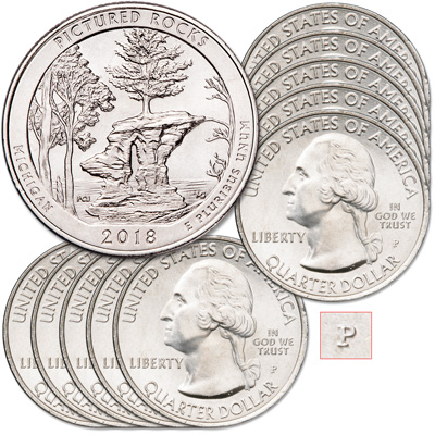 Image for 2018-P Ten Pictured Rocks National Lakeshore Quarters from Littleton Coin Company