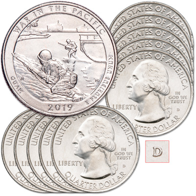 Image for 2019-D Ten War in the Pacific National Historical Park Quarters from Littleton Coin Company