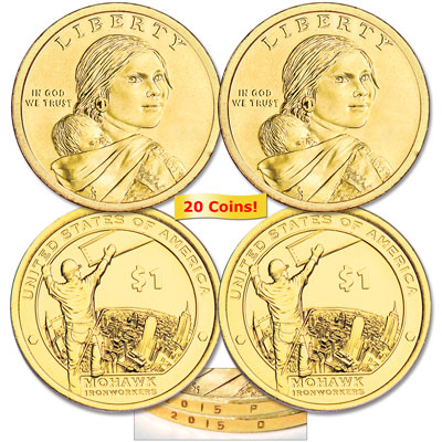 Image for 2015 Ten P&D Native American Dollar Sets (20 coins) from Littleton Coin Company