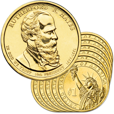 Image for 2011-D Ten Rutherford B. Hayes Presidential Dollars from Littleton Coin Company