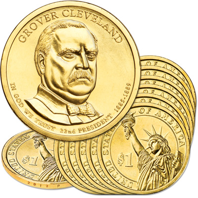 Image for 2012-P Ten Grover Cleveland Presidential Dollars from Littleton Coin Company