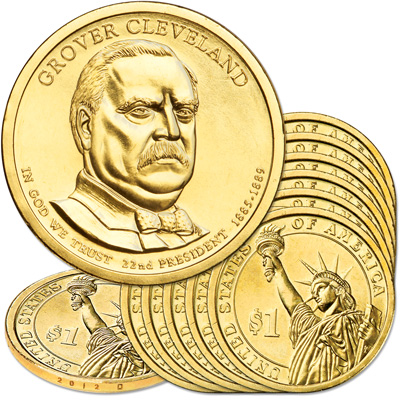 Image for 2012-D Ten Grover Cleveland Presidential Dollars from Littleton Coin Company