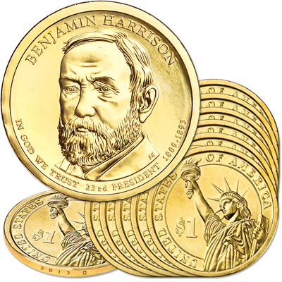Image for 2012-D Ten Benjamin Harrison Presidential Dollars from Littleton Coin Company