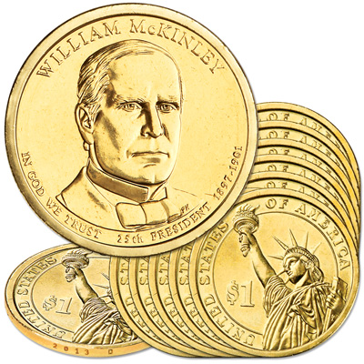 Image for 2013-D Ten William McKinley Presidential Dollars from Littleton Coin Company