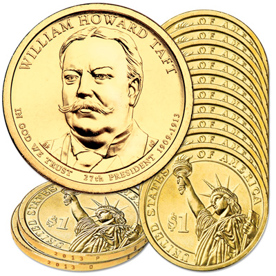 Image for 2013 10P & 10D William Howard Taft Presidential Dollar Set from Littleton Coin Company
