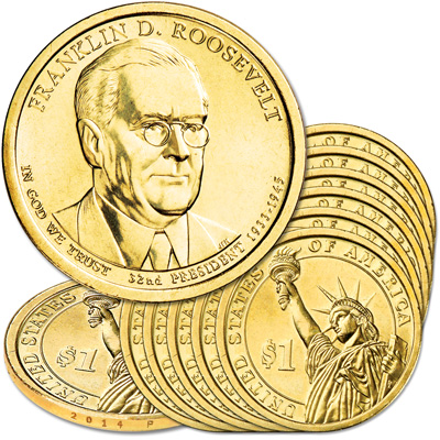 Image for 2014-P Ten Franklin D. Roosevelt Presidential Dollars from Littleton Coin Company