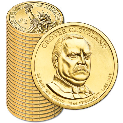 Image for 2012-P Twenty-Five Grover Cleveland Presidential Dollars from Littleton Coin Company