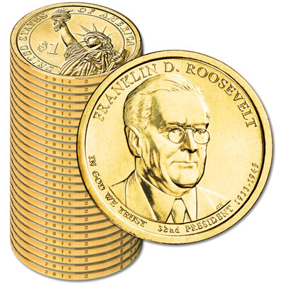 Image for 2014-D Twenty-Five Franklin D. Roosevelt Presidential Dollars from Littleton Coin Company