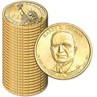 Image for 2015-P Twenty-Five Harry S. Truman Presidential Dollars from Littleton Coin Company