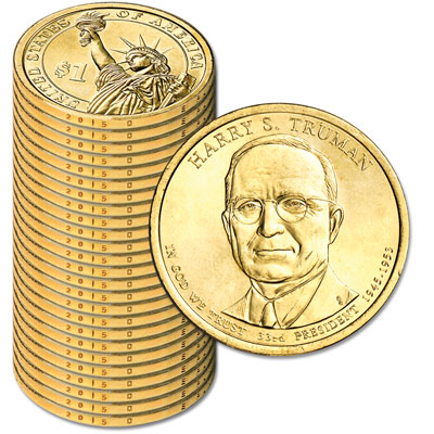 Image for 2015-D Twenty-Five Harry S. Truman Presidential Dollars from Littleton Coin Company