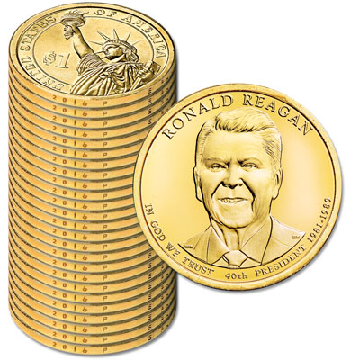 Image for 2016-P Twenty-Five Ronald Reagan Presidential Dollars from Littleton Coin Company