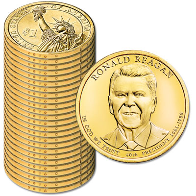 Image for 2016-D Twenty-Five Ronald Reagan Presidential Dollars from Littleton Coin Company