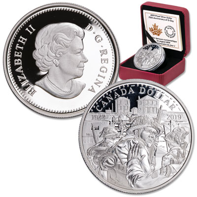 Image for 2019 Canada Silver $1 75th Anniversary of D-Day from Littleton Coin Company