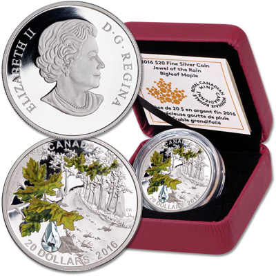 Image for 2016 Canada 1 oz. Silver $20 Bigleaf Maple from Littleton Coin Company