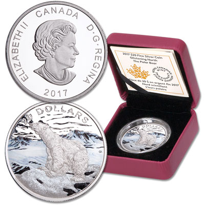 Image for 2017 Canada Silver $20 Polar Bear from Littleton Coin Company