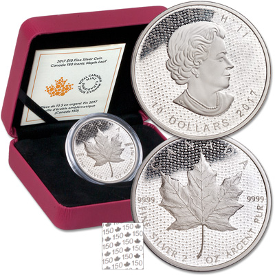 Image for 2017 Canada 2 oz. Silver $10 Iconic Maple Leaf from Littleton Coin Company