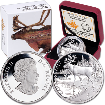 Image for 2017 Canada Silver $20 Woodland Caribou from Littleton Coin Company
