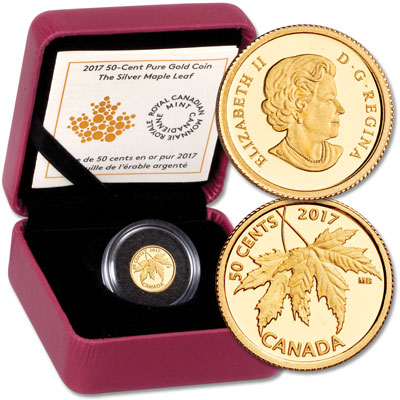Image for 2017 Canada 1/25 oz. Gold 50¢ Maple Leaf from Littleton Coin Company