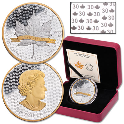 Image for 2018 Canada 2 oz. Silver $10 Maple Leaf Tribute from Littleton Coin Company