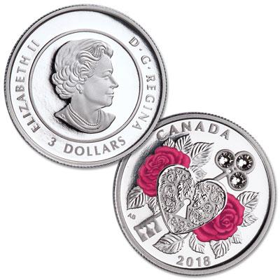 Image for 2018 Canada Silver $3 Celebration of Love from Littleton Coin Company