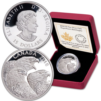 Image for 2018 Canada Silver $15 Bald Eagle from Littleton Coin Company