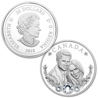 Image for 2018 Canada Silver $20 Royal Wedding - Prince Harry & Ms. Meghan Markle from Littleton Coin Company