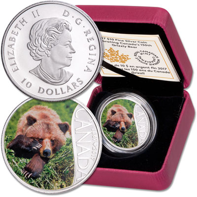 Image for 2017 Canada Silver $10 Grizzly Bear from Littleton Coin Company