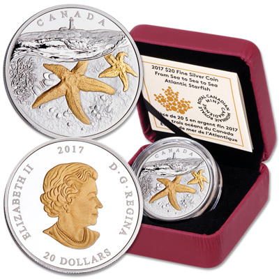 Image for 2017 Canada Silver $20 Starfish from Littleton Coin Company