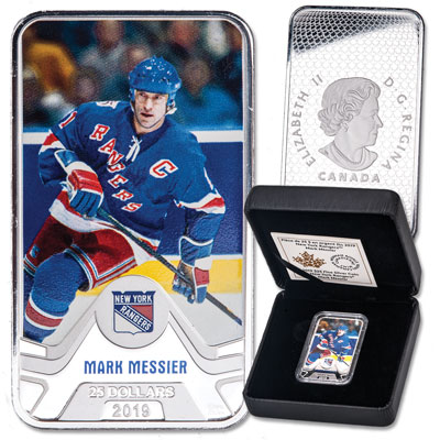 Image for 2019 Canada Silver $25 NHL Original Six Series - New York Rangers: Mark Messier from Littleton Coin Company