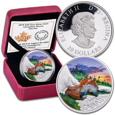 Image for 2019 Canada Silver $20 Fauna: The Fox from Littleton Coin Company